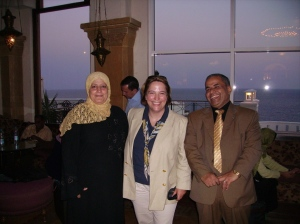 Two of my Egyptian colleagues at a conference on Sharm El Sheikh.  I used to dive before breakfast, and again during the lunchtime break