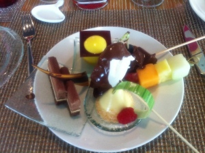 Brunch is a big part of the expat scene across the world, including Abu Dhabi where sumptuous feasts were laid on every Friday. This was my dessert selection from one brunch attended at the Fairmont Hotel in Abu Dhabi.