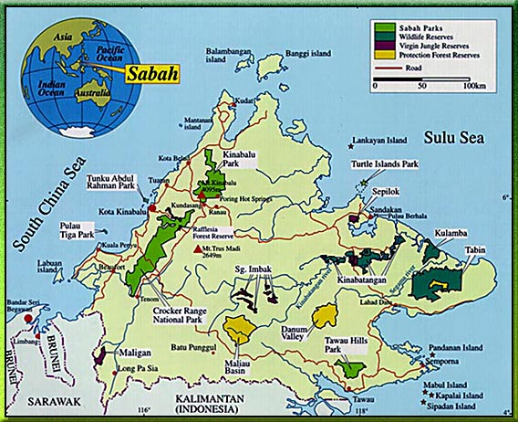 Map Credit: Sabah Wildlife Department http://www.wildlife.sabah.gov.my/